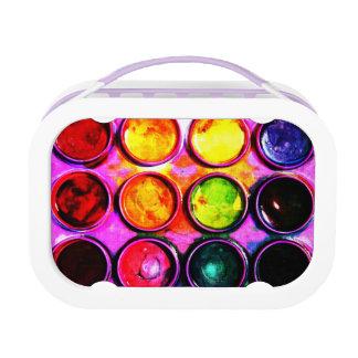 watercolor paint color box lunch boxes