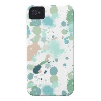 Watercolor Paint Splatters iPhone 4 Cases