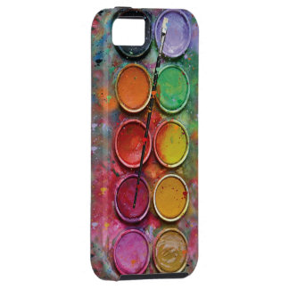 Watercolor Paintbox iPhone 5 Cases