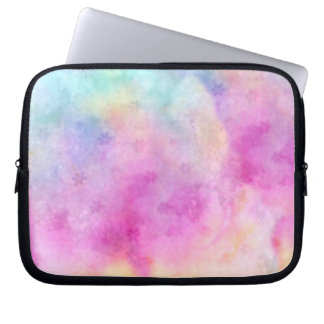 Watercolor painted Rice Paper Laptop Sleeve