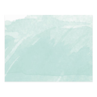 Watercolor Painting Blue Teal Mint Postcard