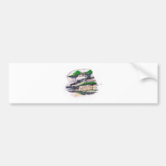 Watercolor Painting Bumper Sticker