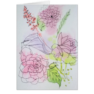 Watercolor Painting Floral Note Cards