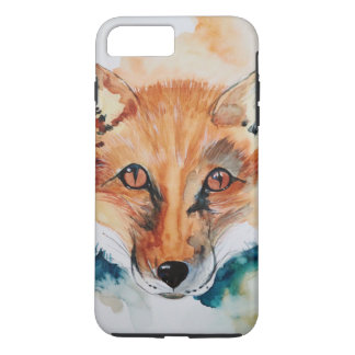 Watercolor Painting Fox Wild Abstract Mammal iPhone 7 Plus Case