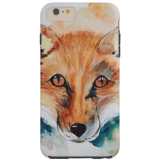 Watercolor Painting Fox Wild Abstract Mammal Tough iPhone 6 Plus Case