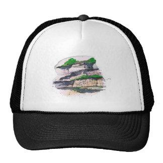 Watercolor Painting Mesh Hats