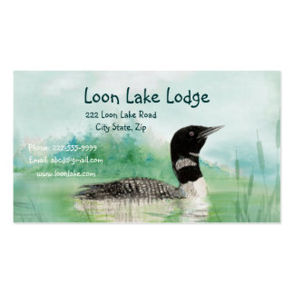 Watercolor Painting Loon, Wilderness Bird Pack Of Standard Business Cards