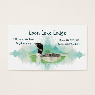 Watercolor Painting Loon, Wilderness Bird Business Card