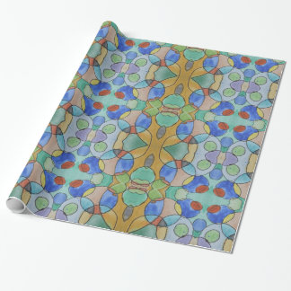 Watercolor Painting of Colorful Circles, Kids Art Wrapping Paper