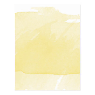 Watercolor Painting Sun Yellow Ombre Modern Art Postcard