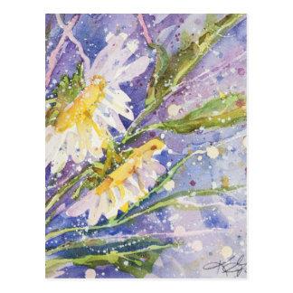 Watercolor paintings postcard