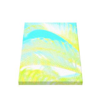 Watercolor palm leaf canvas wrap canvas print