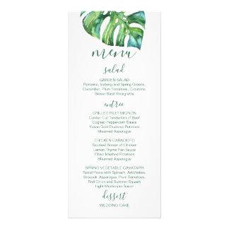 Watercolor Palm Leaf - destination wedding menu