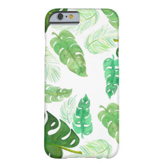 Watercolor Palm Leaves Barely There iPhone 6 Case