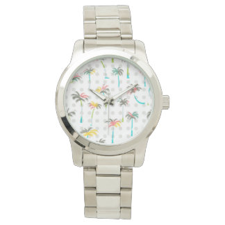 Watercolor Palm Trees Watch