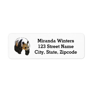Watercolor Panda Bear Return Address Label