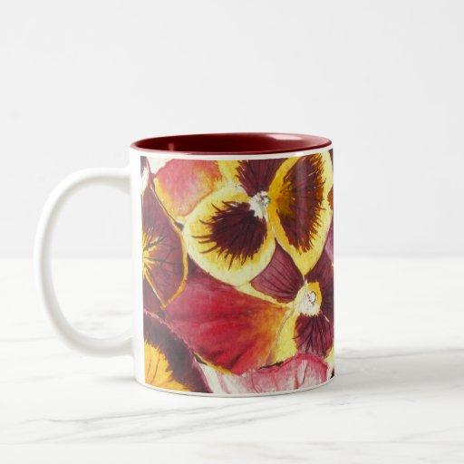 Watercolor Pansies Mug