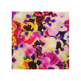 Watercolor Pansies Wood Wall Art