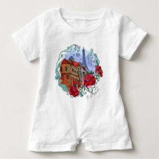 Watercolor Paris Baby Bodysuit