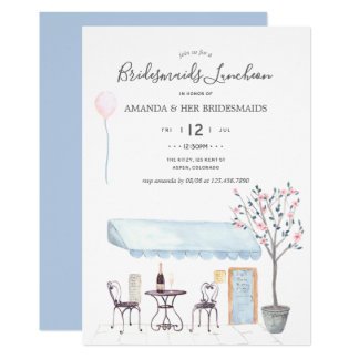Watercolor Paris Bridal Luncheon invitation