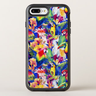 Watercolor Parrots OtterBox Symmetry iPhone 8 Plus/7 Plus Case