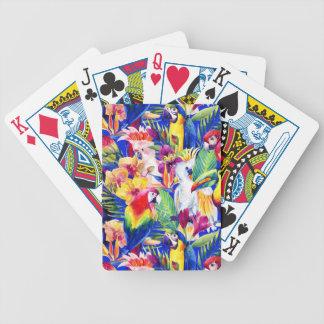 Watercolor Parrots Poker Deck