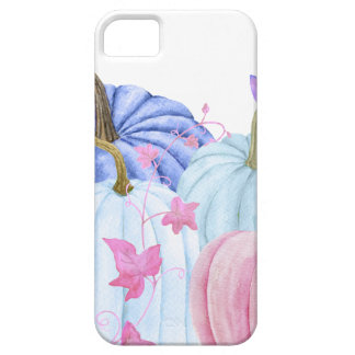 Watercolor pastel pumpkin and floral frame case for the iPhone 5