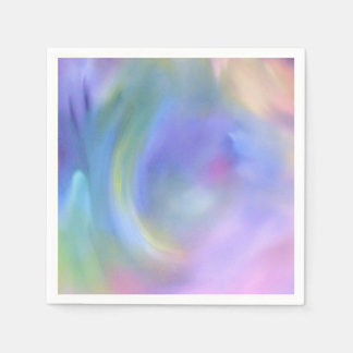 Watercolor Pastel Rainbow - All Options Disposable Napkin