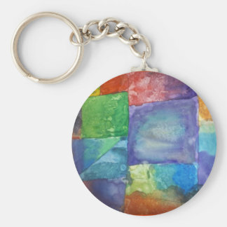 Watercolor Patchwork Keychain