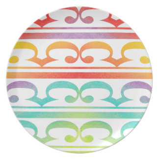 Watercolor Pattern Rainbow - water color sample Plates