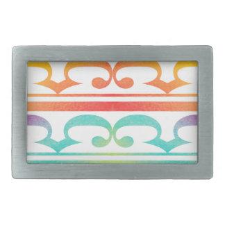 Watercolor Pattern Rainbow - water color sample Rectangular Belt Buckles
