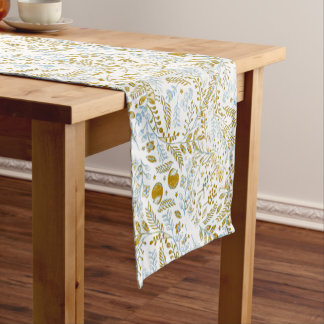 Watercolor Pattern Short Table Runner