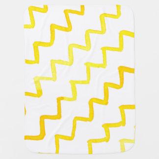 Watercolor pattern with custom message pramblanket