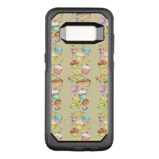 Watercolor pattern with sweets OtterBox commuter samsung galaxy s8 case