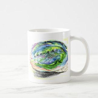 watercolor Paua Black Abalone New Zealand Shell Coffee Mug