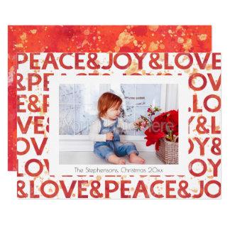 Watercolor Peace Christmas Holiday Photo Card