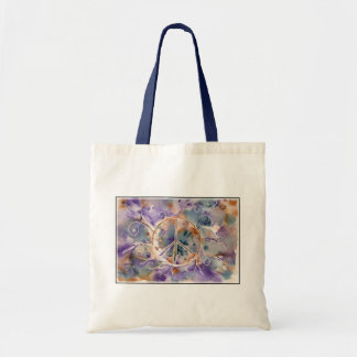 Watercolor Peace Sign Bags