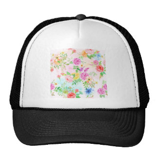 Watercolor Peach and Yellow Rose Pattern Cap