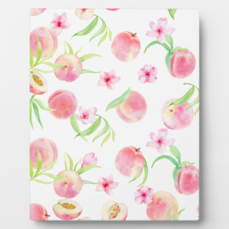 Watercolor peach pattern plaque
