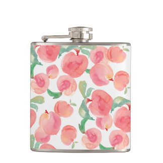 Watercolor Peaches Flask
