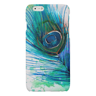 Watercolor Peacock Feather iPhone Case