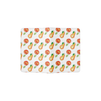 Watercolor pears and fruit passport holder