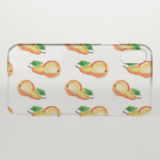 Watercolor pears design iPhone x case