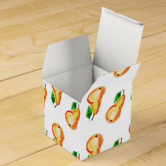Watercolor pears design wedding favour box