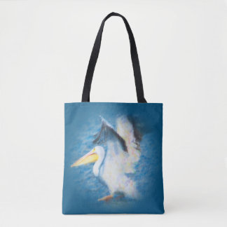 watercolor pelican 17 all-over tote