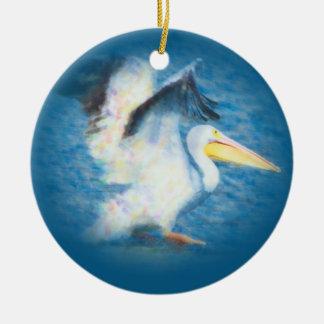 watercolor pelican 17 ornament