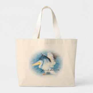 watercolor pelican 17 tote