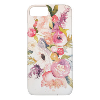 Watercolor Peonies and Flowers Case