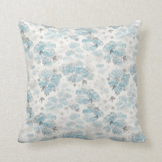 Watercolor Peonies Floral Pattern Cushion