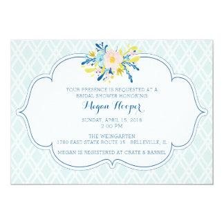 Watercolor Peony Garden Party Invitation
